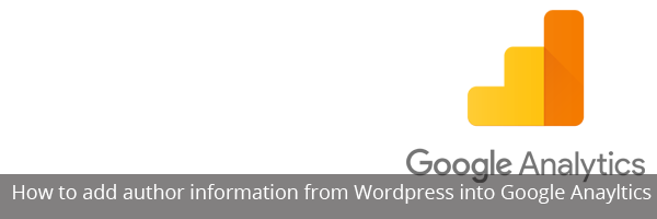 How to add author information from WordPress into Google Anayltics