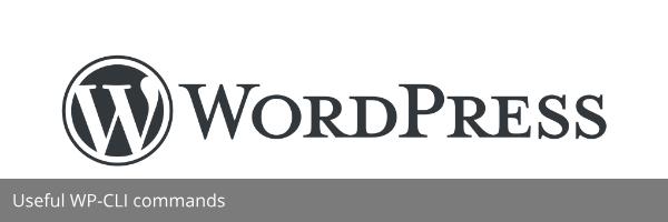 Usefull WP-CLI commands